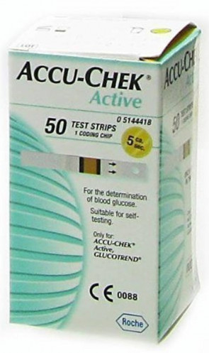 ACCU-CHEK ACTIVE GLUCOSE TEST STRIPS - 50