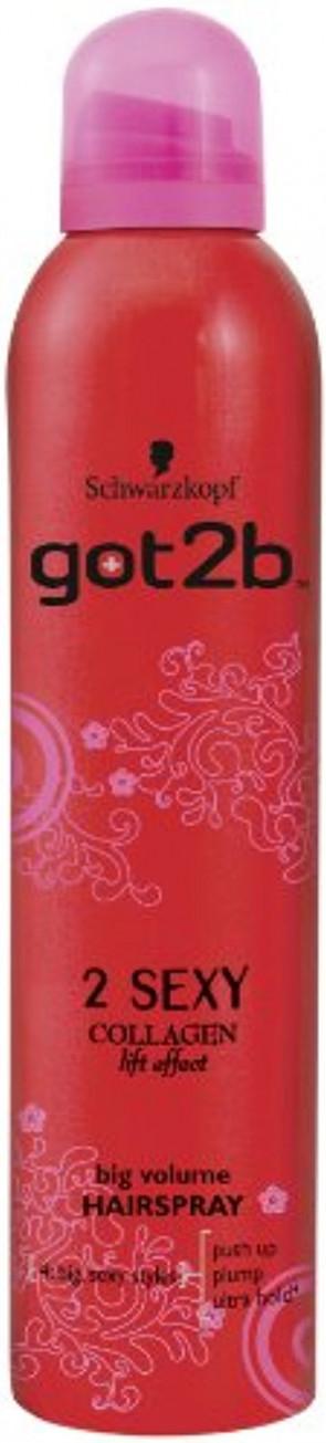 Schwarzkopf got2b 2sexy Big Volume Hairspray 300ml (Pack of 2)