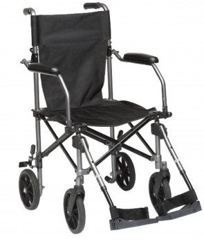 Drive Medical TC005 18-inch Travelite Aluminium Transport Chair (Eligible for VAT relief in the UK)