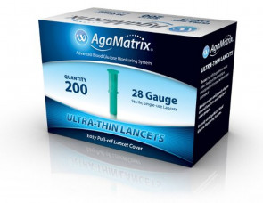 AgaMatrix Ultrathin Lancets 28G 200 Pack