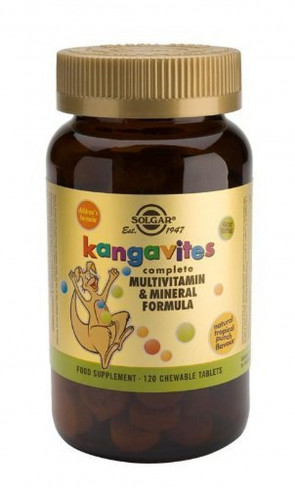 Solgar-Kangavites Multivitamin & Mineral Chewable Tablets-Tropical Punch Flavour 120