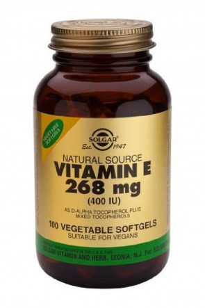 Solgar-Vitamin E 268mg (400iu) Vegetable Softgels 100