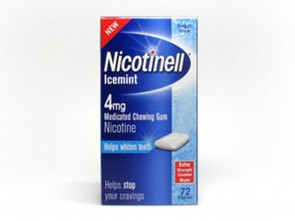 Nicotinell Icemint Medicated Chewing Extra Strength Gum Pieces 4mg Pack of 72