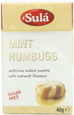 Sula Mint Humbugs Sugar Free Sweets 42 g (Pack of 14)