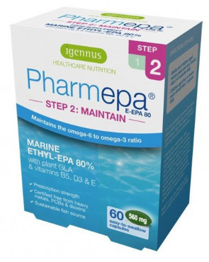 Pharmepa MAINTAIN omega-3 fish oil, super strength 1000mg omega-3 EPA & DHA per serving,  60 caps