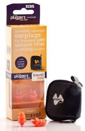 Pluggerz Earplugs for Children with Unique Filter Uni Fit Travel Travel Without Pressure on the ear (Pack of 2)