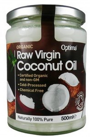 Optima Organic Raw Virgin Coconut Oil 500ml x2