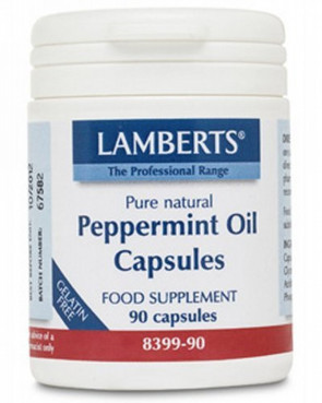 Lamberts Peppermint Oil Capsules 50mg QTY 90 Capsules