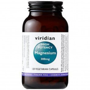 Viridian High Potency Magnesium 300mg (120 Vegetarian Capsules)