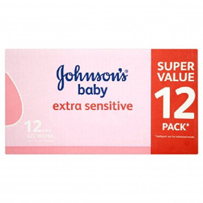 Johnson's Baby Extra Sensitive Wipes 12 x 56 per pack