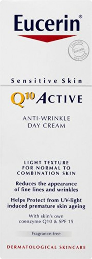 Eucerin Q10 Active Anti-Wrinkle Day Cream - Normal to Combination Skin SPF15 50ml