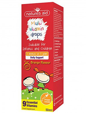 Natures Aid 50ml Multi-Vitamin Drops Multi-vitamin Drops for Infants & Children
