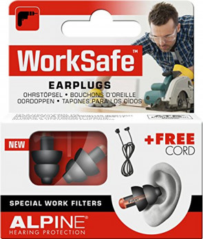 Alpine WorkSafe - Ear Plugs for DIY & Work to Protect Your Hearing, Free Cord