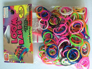 12 Packs of Rainbow Loom Bands (300 bands per pack)
