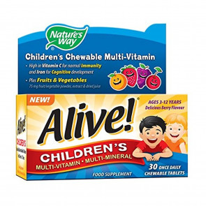 Alive! Children's Multi-Vitamin and Multi-Mineral 30 tabs