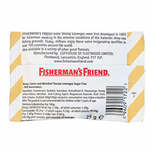 Fishermans Friend 25 g Sugar Free Honey and Lemon Lozenges - Pack of 8