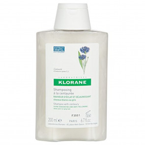 Klorane Centaury Shampoo for Grey/White Hair 200ml