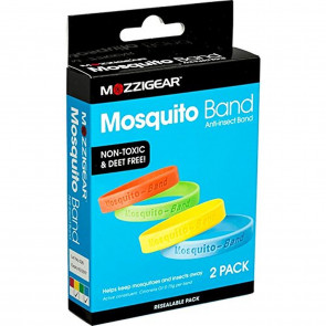 Mozzigear Mosquito Band 2 Pack Adult Plain 1 Box