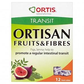 12 x Ortis Ortisan Transit Ortisan 12 Fruits & Fibres Cubes 120g