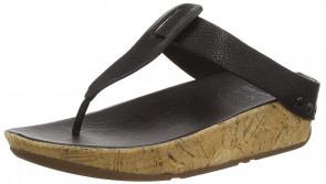 Fitflop Women's Ibiza Cork  Sandals, Black (Black 001), 6 UK 39 EU