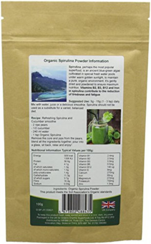 Greens Organic 100 g Spirulina Powder