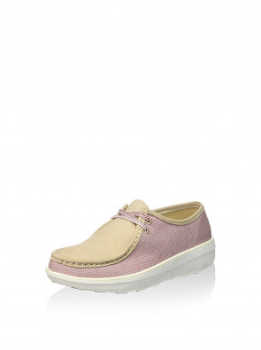 FitFlopTM Loaff Lace Up Moc (Canvas) - Red Weave 5 UK