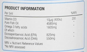Natures Aid 150 ml Lemon Flavour Kidz Omega-3 Vitamin and Minerals