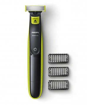 Philips QP2520/25 OneBlade Rechargeable Facial Trim Edge Shave Hair Trimmer with 3 x Styling Combs
