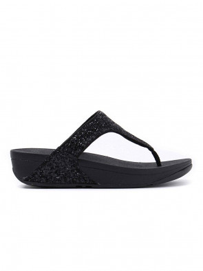 Fitflop Women's Glitterball Post Open-Toe Sandals, Black (Black), 4 UK 37 EU
