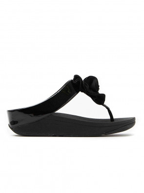 FitFlop Florrie Sandals Toe Post Black UK7 Black