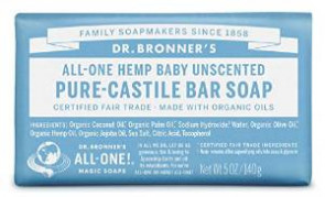 Dr. Bronner Mild Aloe Baby Soap Bar Made with Organic Ingredients 140 g