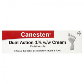 Canesten Dual Action 1% Cream Athletes Foot Cream 30G