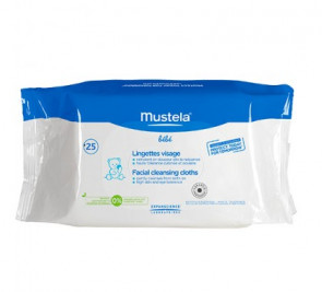 Mustela Facial Cleansing Cloths 25 Wipes